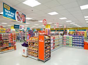 Poundland store interior