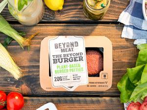 Beyond Meat plant-based vegan burger US pack shot