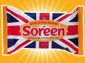 Soreen with Union Jack packaging