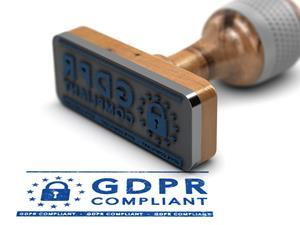 GDPR compliant stamp data protection privacy