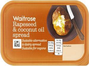 waitrose coconut and rapeseed spread