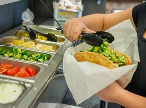 jj foodservice healthy food salad pitta