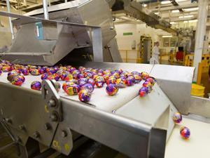 Creme Eggs production line