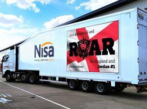 nisa lorry world cup branding