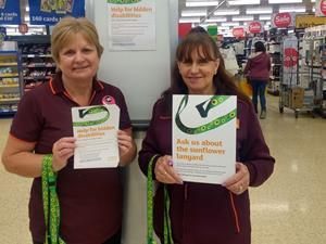 Sainsburys lanyard for disabilities