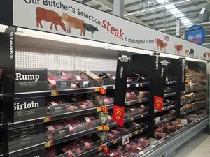 asda revamped meat aisle