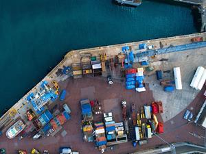Port at Guernsey St Peter Dock