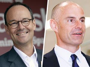 Mike Coupe and Roger Burnley Sainsbury's-Asda merger