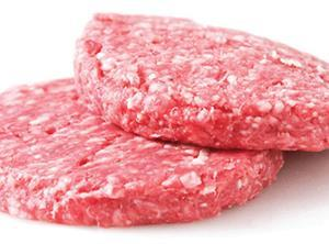 Raw meat burger