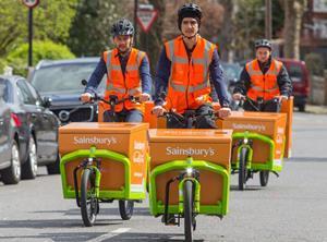 Sainsburys electric cargo bike trial2 web