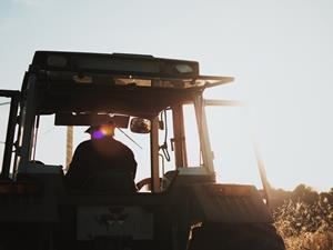 Tractor farmer farming countryside