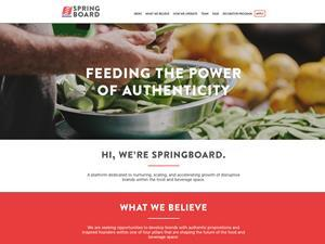 Kraft Heinz accelerator programme Springboard_website screenshot