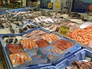 Fish counter at Mercadona