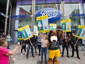 Poundland Boots protest