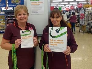 Sainsburys lanyard disabled customers
