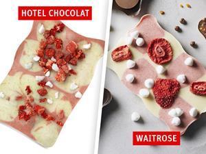 Hotel Chocolat and Waitrose curvy slab bars