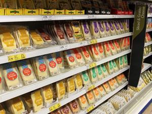 Tesco cheese aisle
