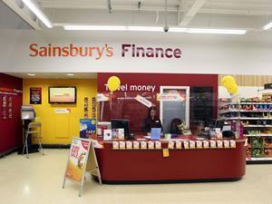 Sainsbury's finance counter