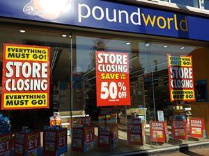 Poundworld closing down sale