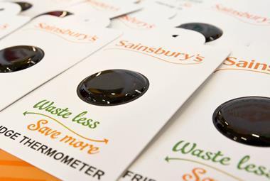 sainsbury's swadlincote waste less save more fridge thermometer