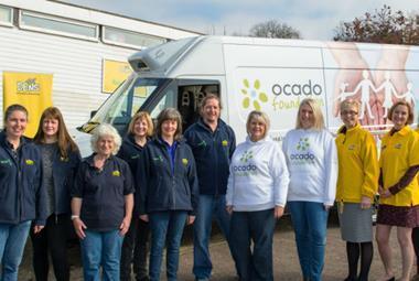 Ocado donates van to DENS Hemel Hempstead Web
