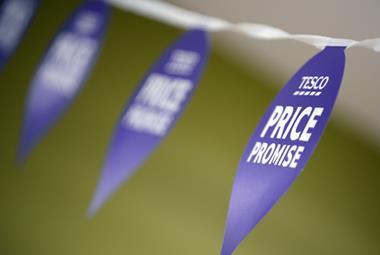 Tesco Price Promise ticket