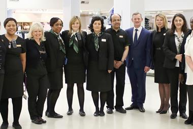 steve rowe with M&S staff