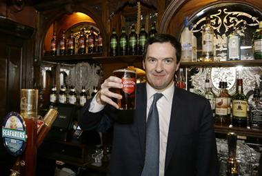 George Osborne pint