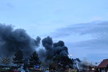 B&M fire PA image