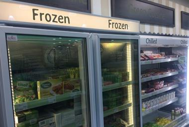 Frozen and chilled counters