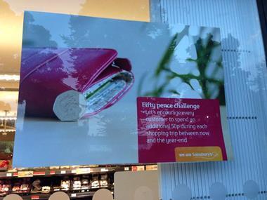 Sainsbury's 50p Challenge poster