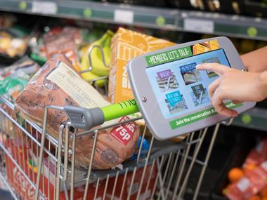 The Co-op is putting tablets on trolleys
