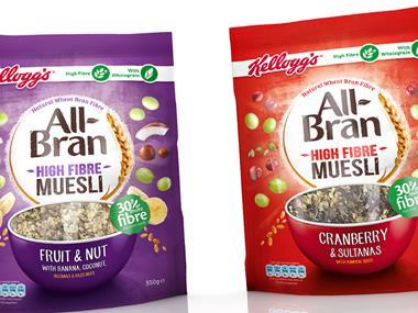 Kellogg's All Bran and Muesli porridge pouches