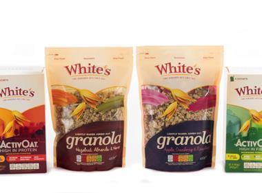 White's porridge and Granola lines