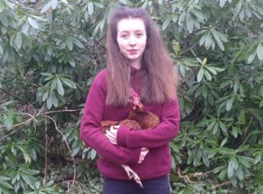 Lucy Gavaghan hen campaigner