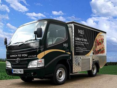 m&s lunch to you van