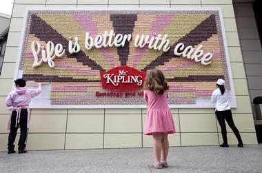 Mr Kipling cake poster