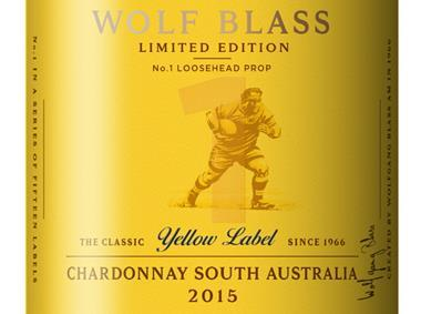 Wolf Blass Yellow Label rugby bottles for Six Nations 2017