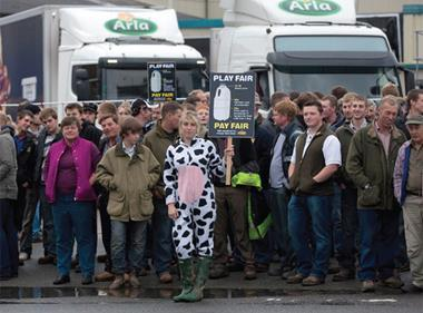 dairy protests