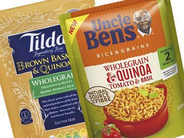 pouched rice uncle bens tilda quinoa