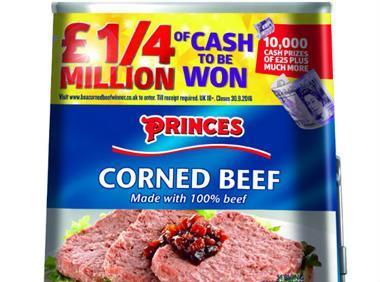 Princes corned beef promotion