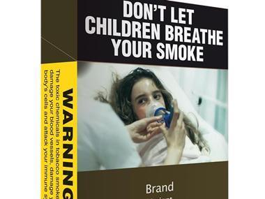 smoking cigarette pack warning