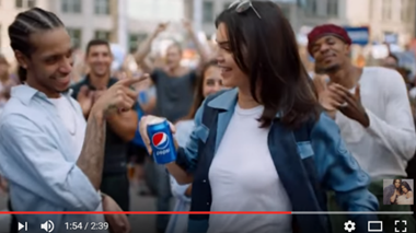 Pepsi ad screenshot