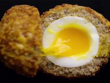 Runny Scotch egg