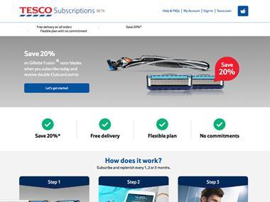 tesco subscription website