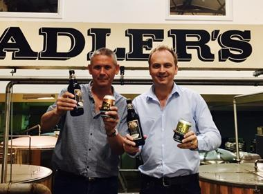 Sadler's sales director Ian King (L) and MD Chris Sadler