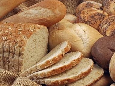 focus on bread, basket of bread