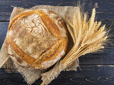 White cottage loaf and wheat