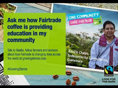 Fairtrade Co-op coffee banner