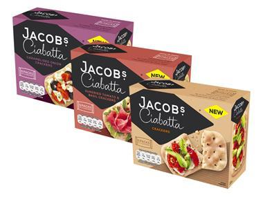 Jacobs launches Ciabatta Crackers as brand overhaul continues